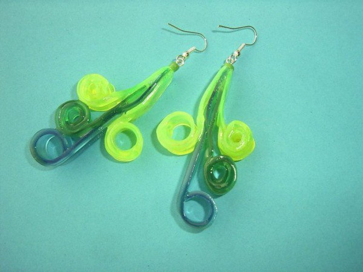 Plastic Ice Cream Spoons Earrings