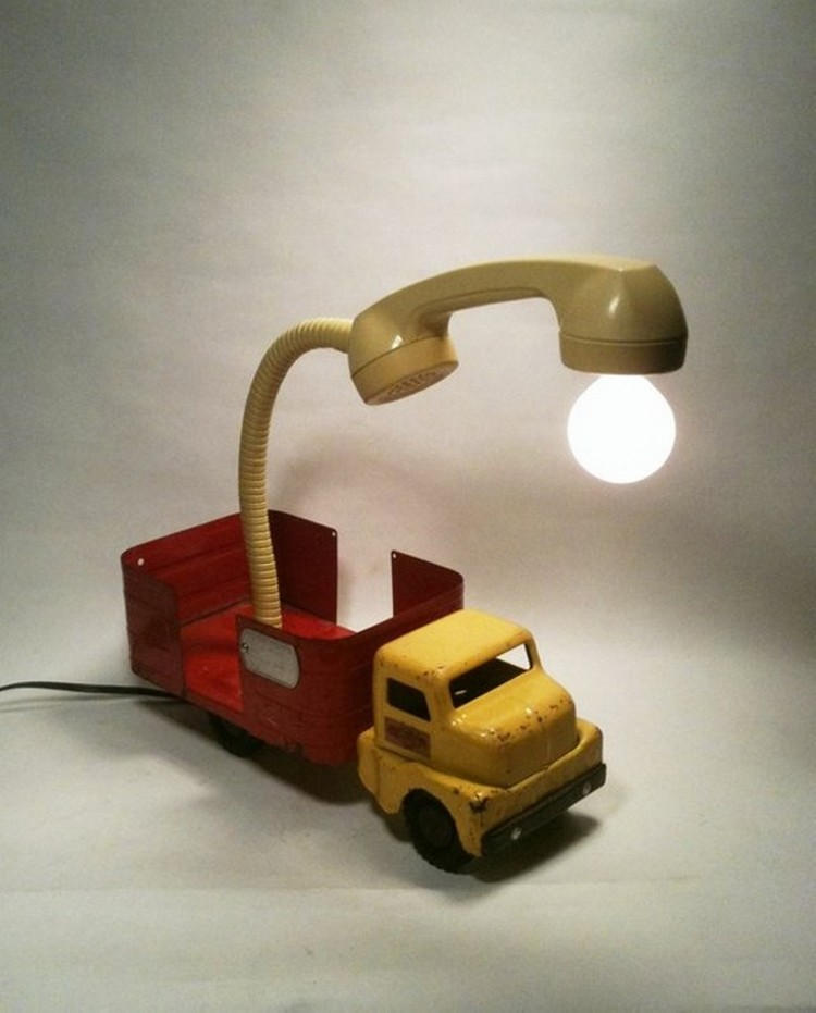 Recycled Lamp Art