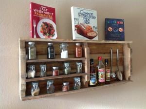 Pallet Spice Racks for Kitchen