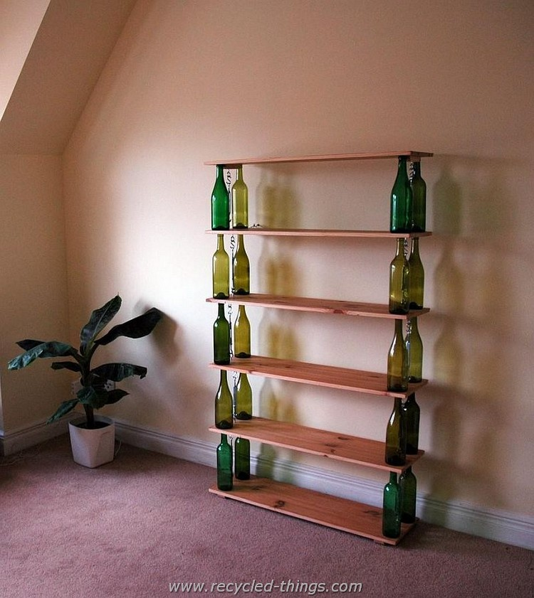 Wine Bottles Bookshelf
