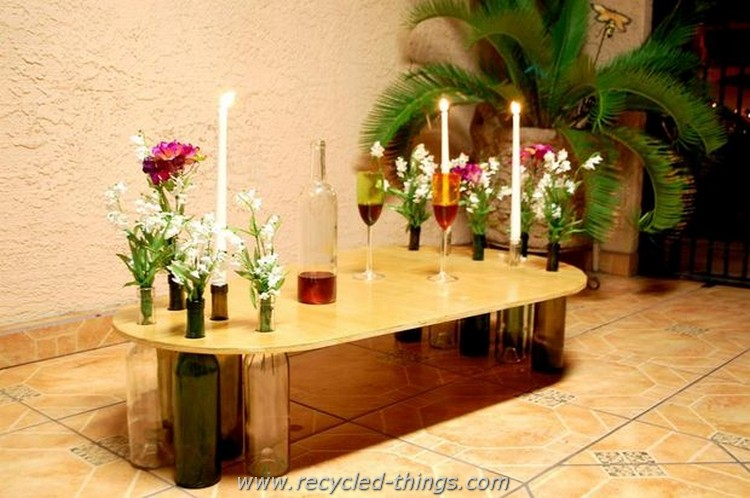 Wine Bottles Coffee Table