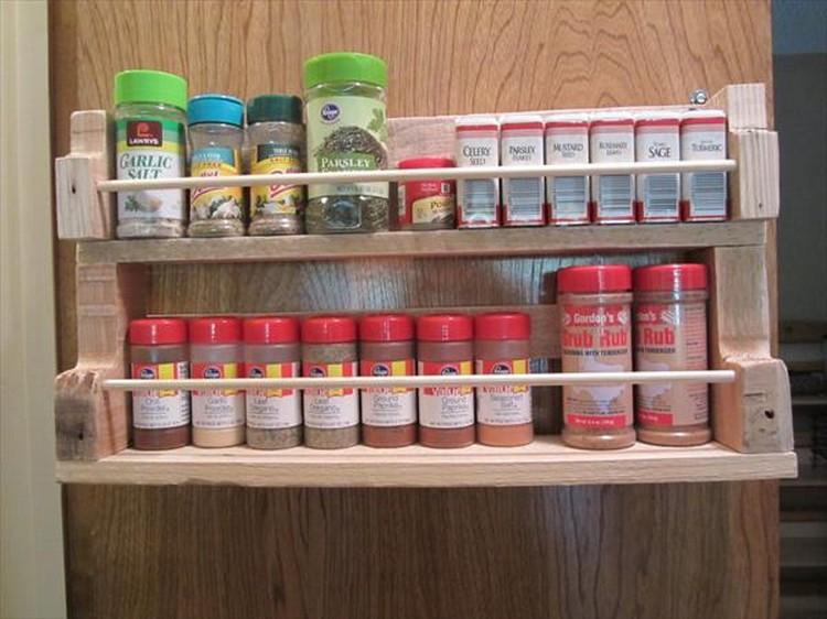 Wooden Pallet Spice Rack
