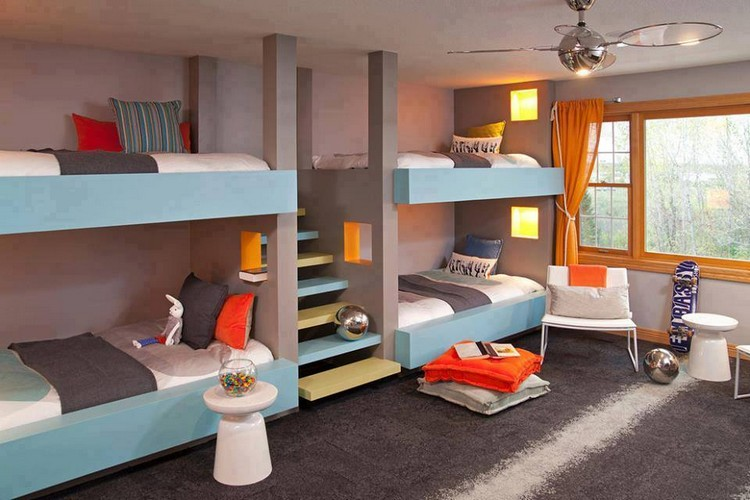 Look At These Awesome Bunk Beds If You Have Four Kids And Want To Make One Bedroom For All Of Them Than Bed Designs Are Best