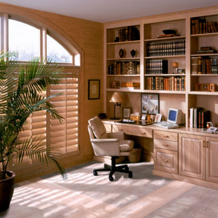 Diy home office redecorating ideas recycled things Built in study desk