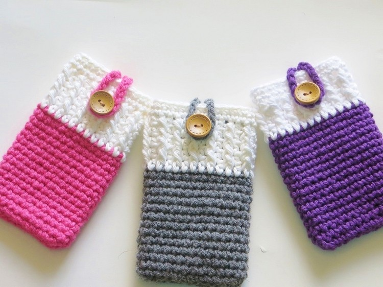 Ideas for Crochet Mobile Phone Covers