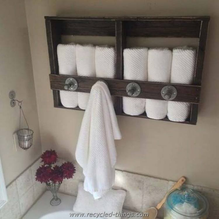 Recycled wood pallet ideas recycled things for Bathroom ideas made from pallets