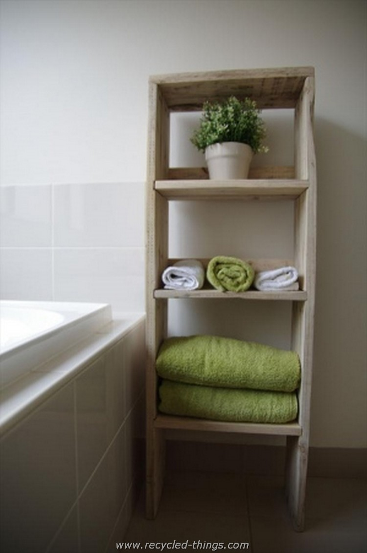 Pallet Wall Bathroom Recycled Wood Pallet Ideas Recycled Things