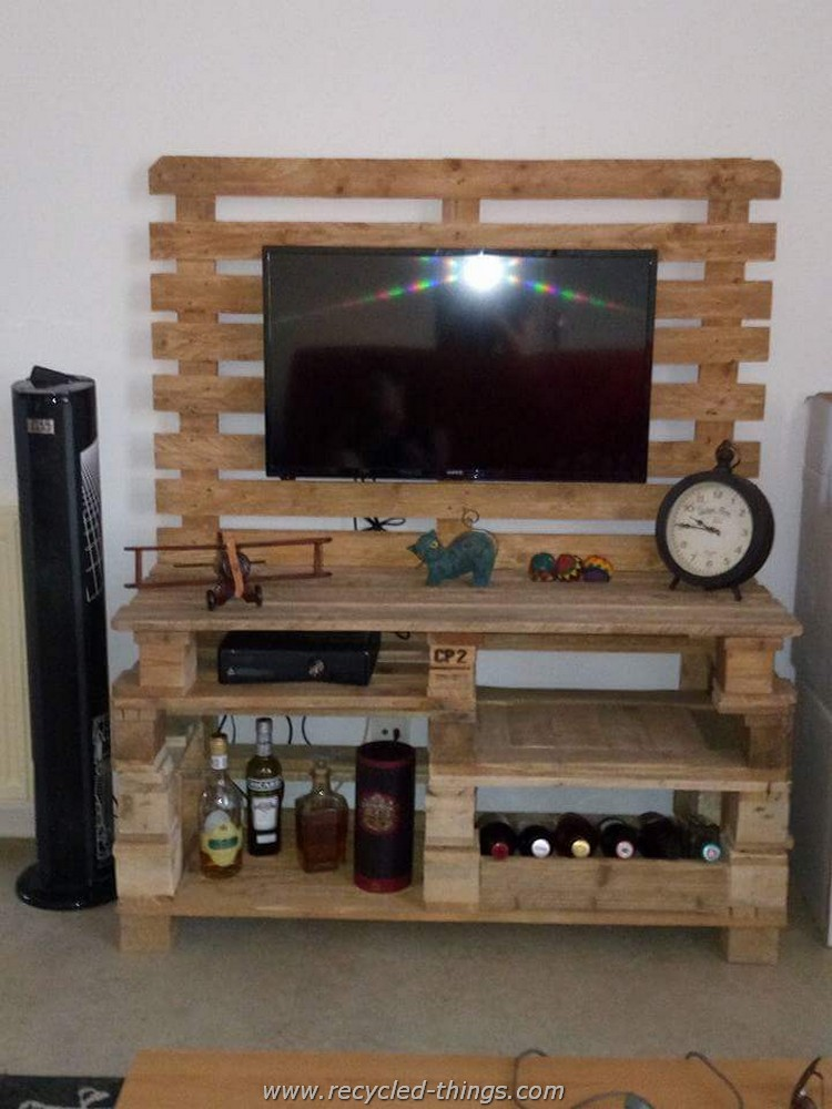 Pallet Media Console with Storage