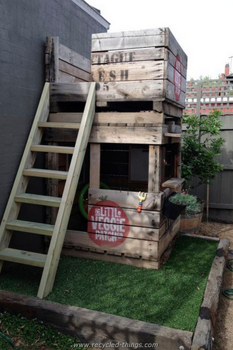 Pallet wood projects for garden recycled things for Pallet ideas for outside