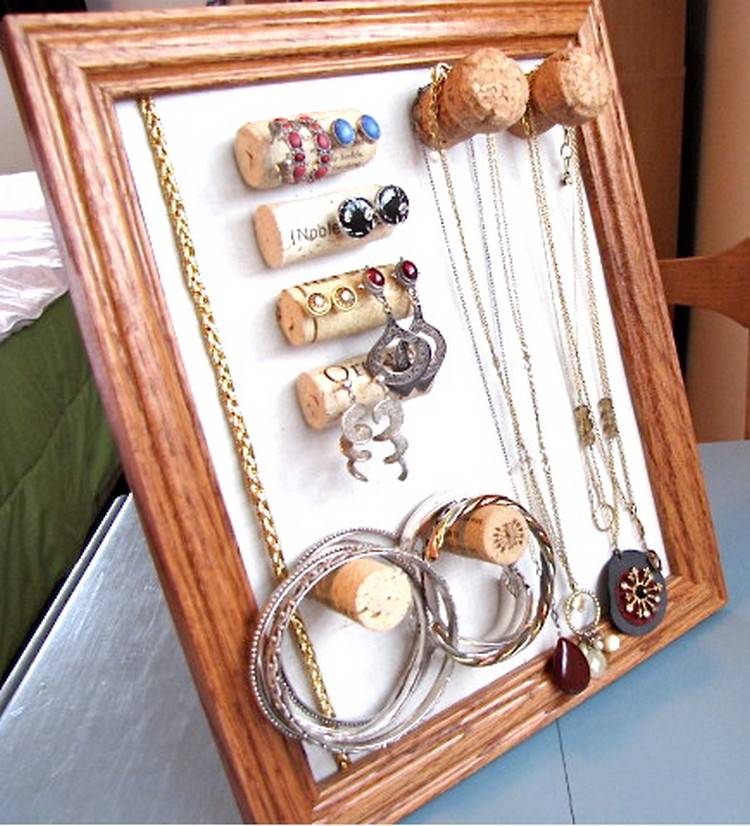 Recycled Jewelry Hanger Frame
