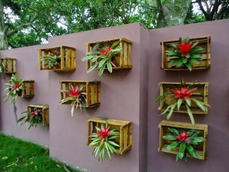 Wall Planters from Crates