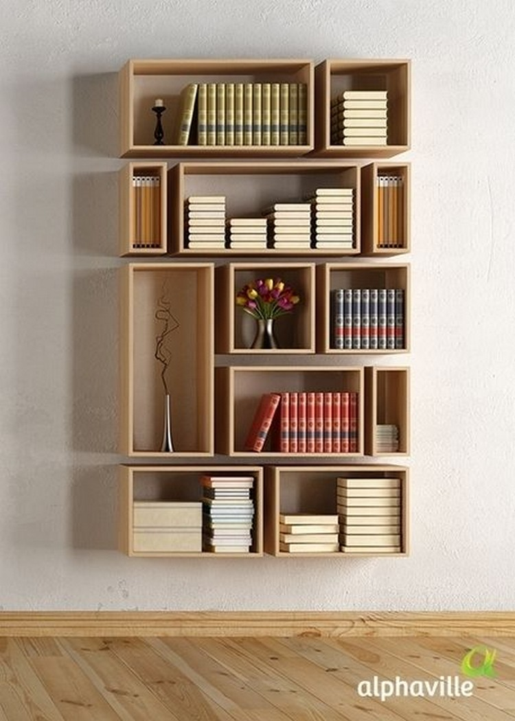 10 diy amazing shelves recycled things for Mountain shelf diy