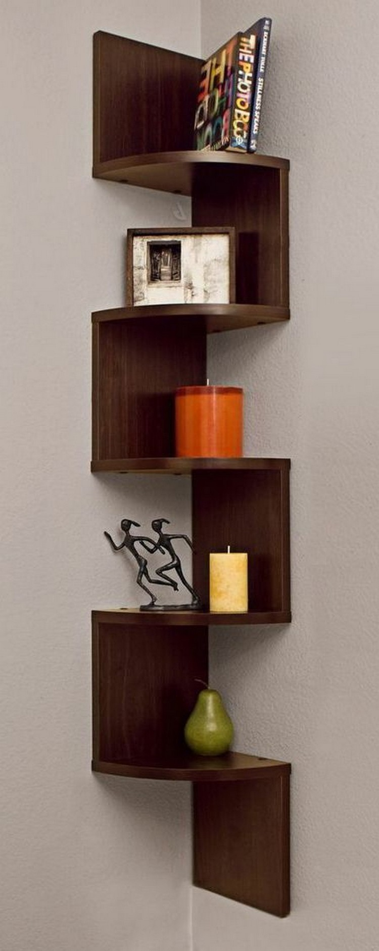 Wooden Corner Shelf