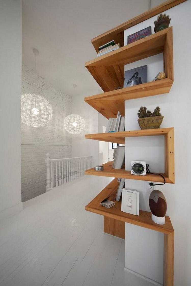 Wooden Corner Shelves