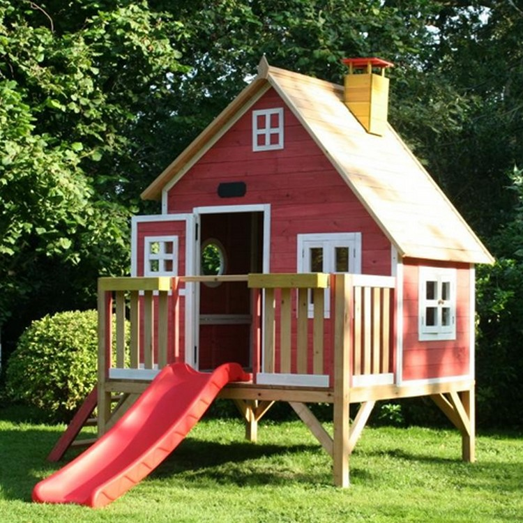 Kids outdoor play house the image kid for Boys outdoor playhouse