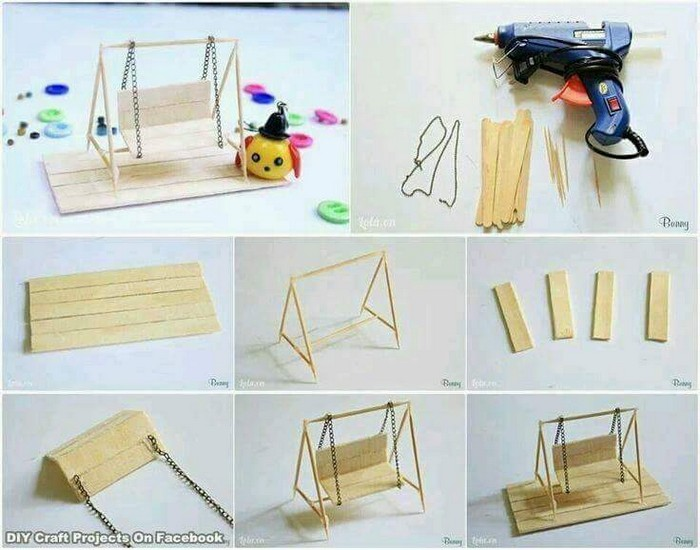 DIY Ice Sticks Swing