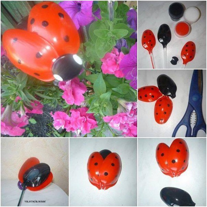 DIY Recycled Plastic Spoons Butterfly
