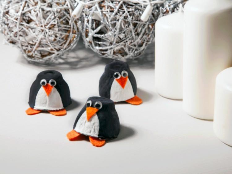 Egg Carton Penguins