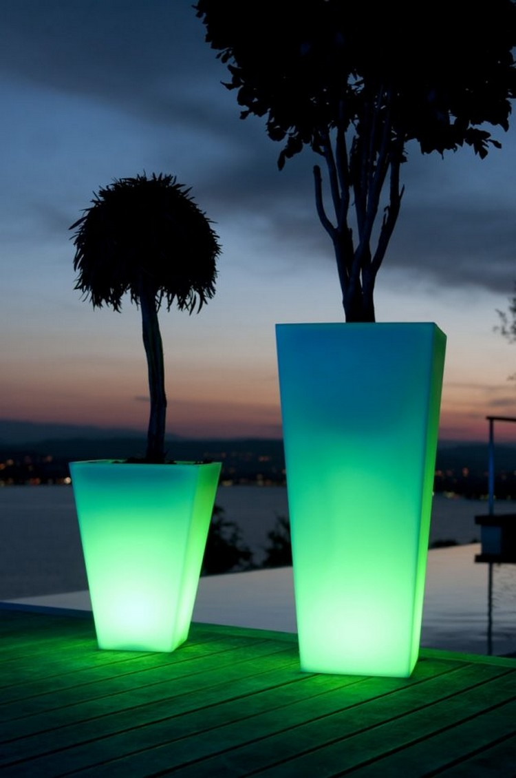 Outdoor LED Planters