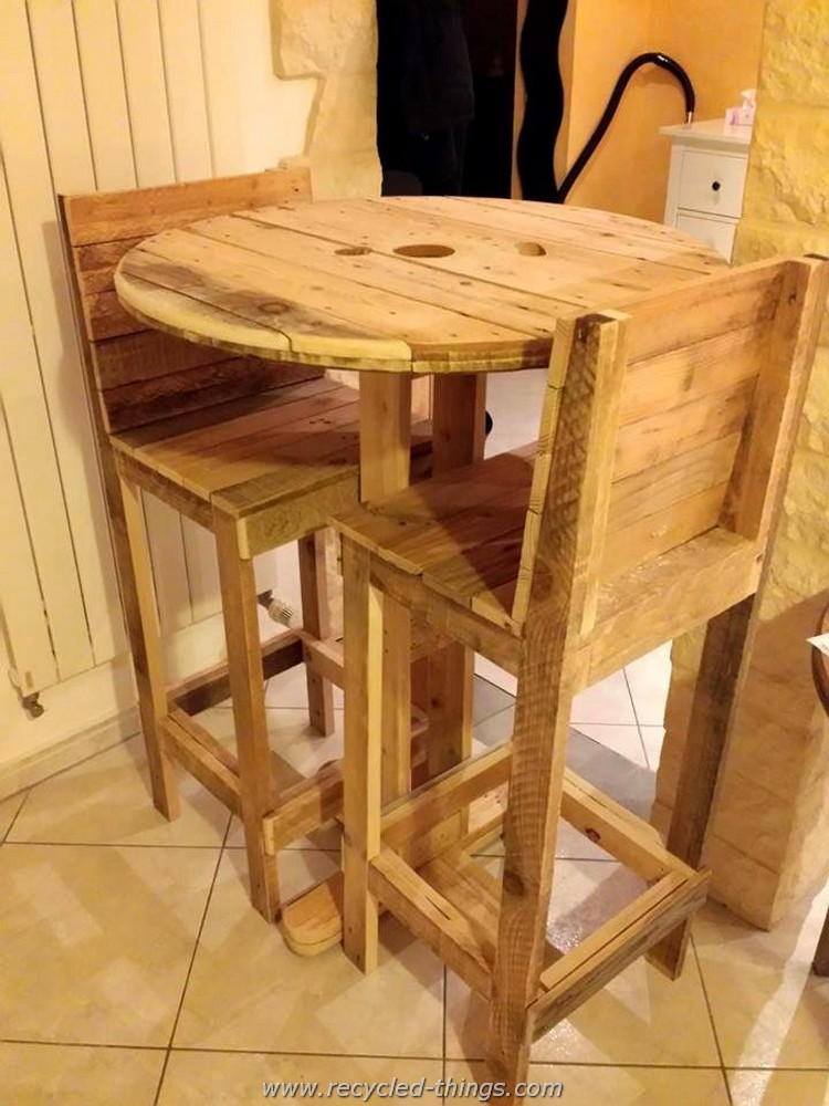 Pallet and Cable Spool Furniture