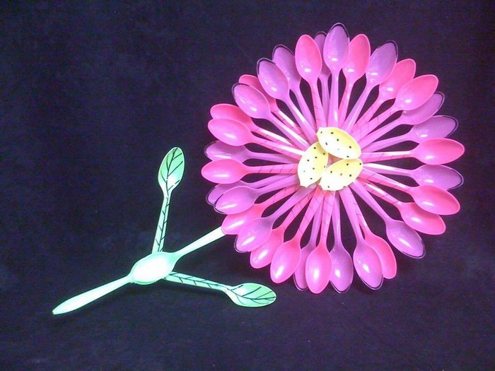Plastic Spoons Flower
