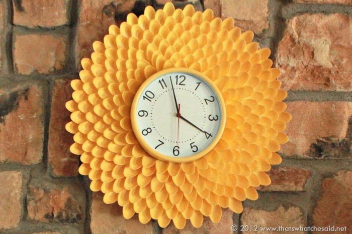 Plastic Spoons Wall Clock