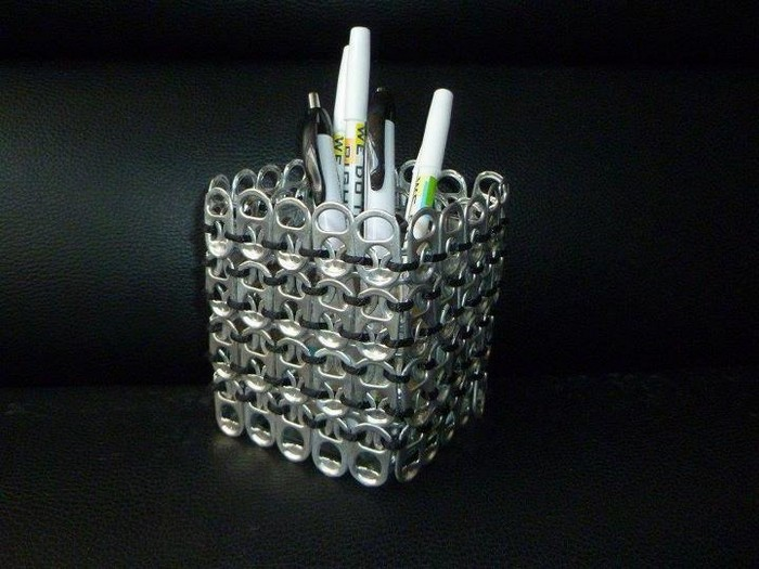 Pop Tabs Pencil Holder