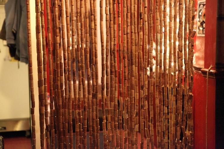 Reused Wine Corks Curtain