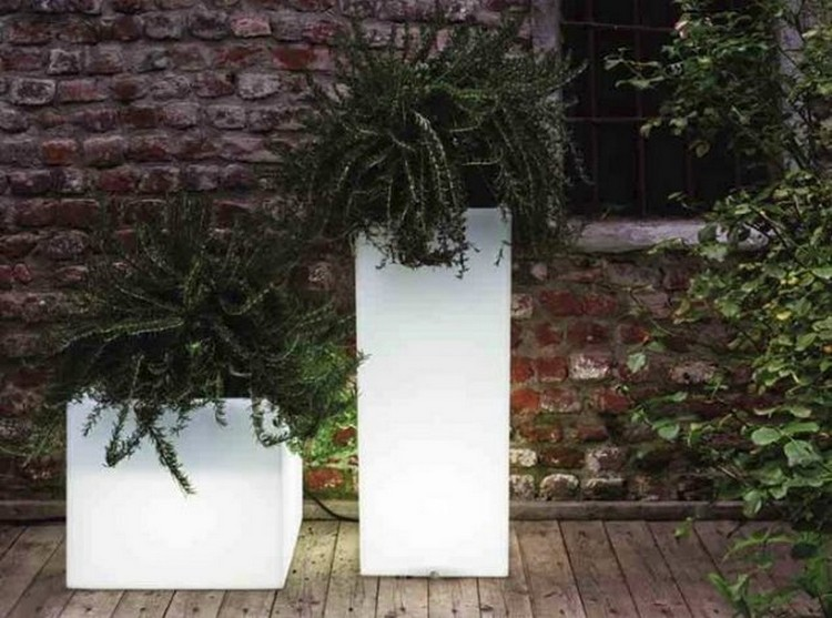 Romantic Look Illuminated Planters