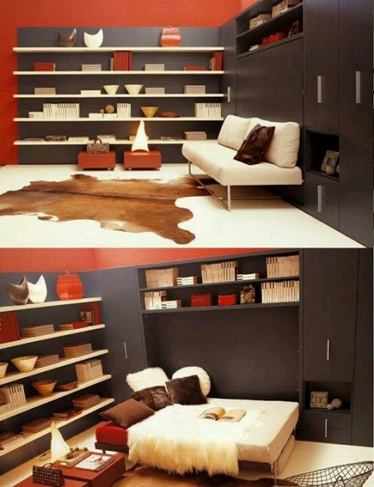 Clever space saving ideas for home recycled things for Space saving ideas