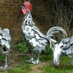 Bicycle Parts Repurposed Hens
