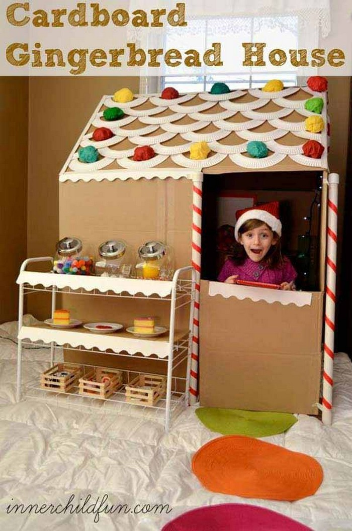 Diy kids games and activities can make with cardboard for Projects of houses