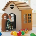 Cardboard Playhouse for Kids