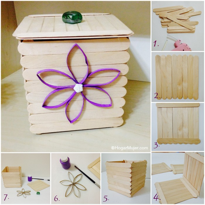 DIY Popsicle Sticks Box