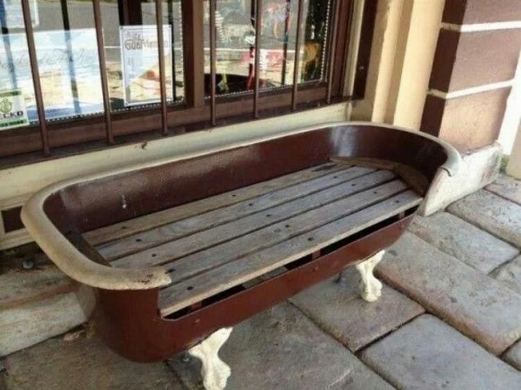 Old Bathtub Bench