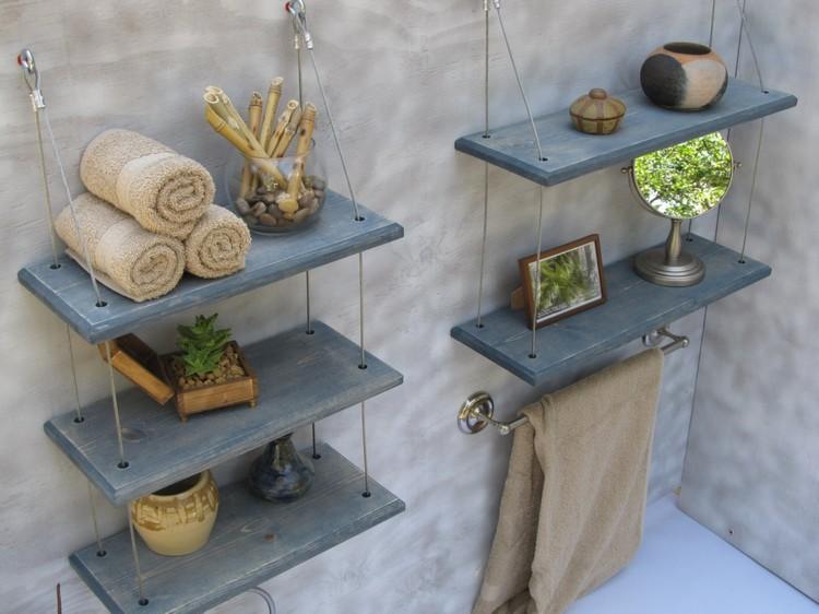 Pallet Bathroom Shelves