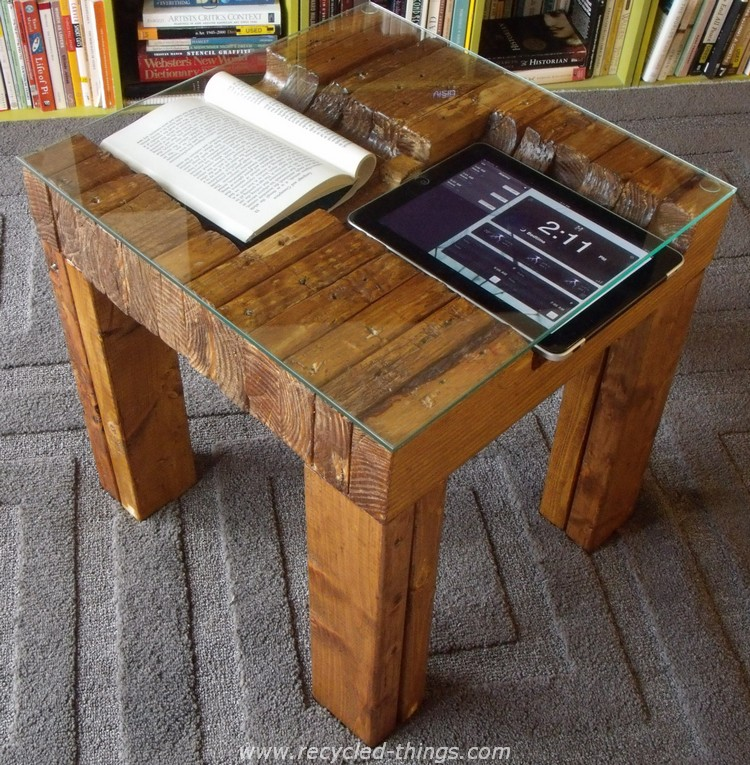 Pallet Glass Top Table
