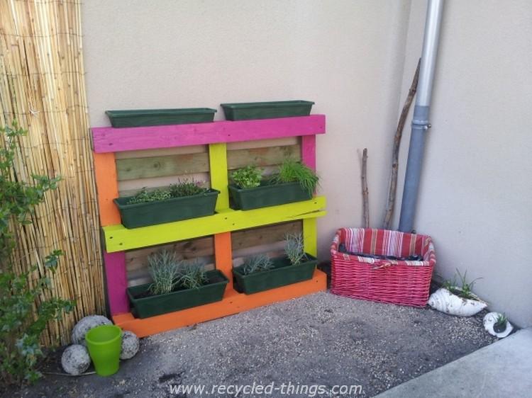Wood pallet outdoor ideas recycled things - Que faire avec des palettes de recuperation ...