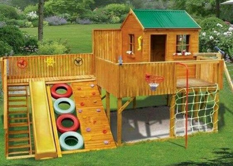 Wood Pallet Playhouses For Kids Recycled Things