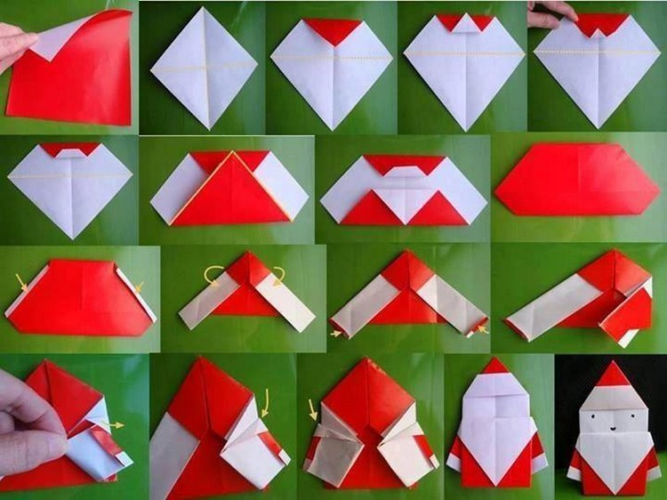 Easy Paper Folding Crafts Recycled Things : Paper Folding Snowman from www.recycled-things.com size 750 x 562 jpeg 93kB