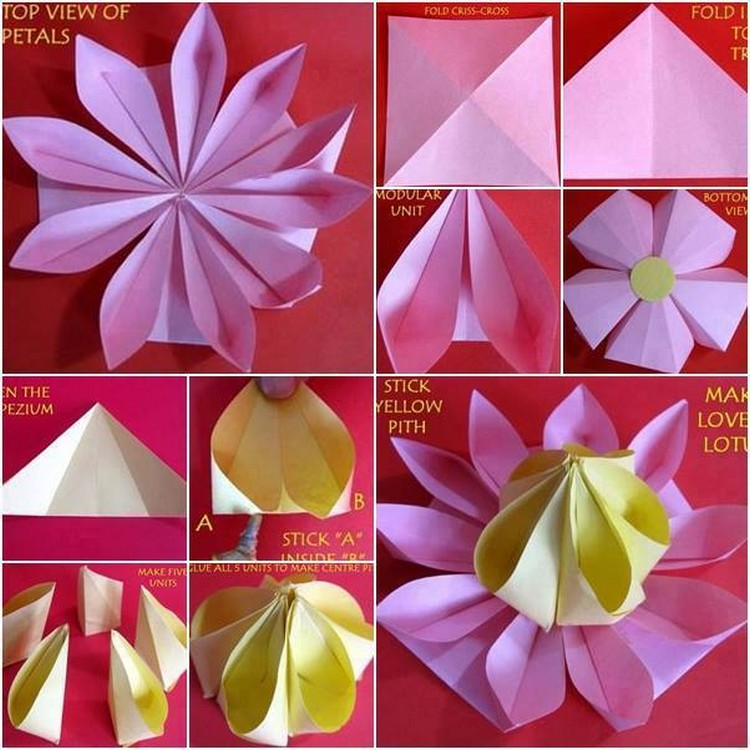 Easy paper folding crafts recycled things for Diy paper origami