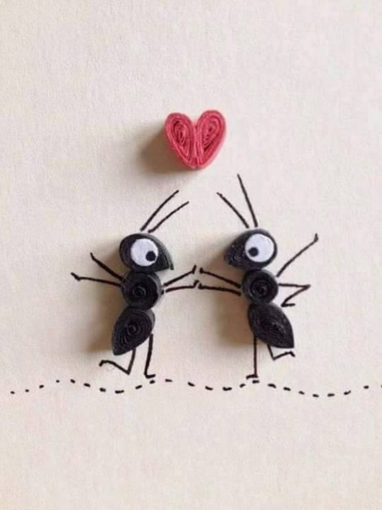 Paper Quilling Art Ants