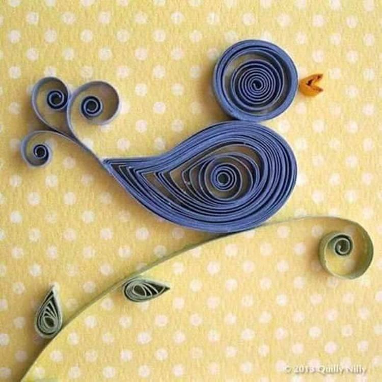 Paper Qulling Art Sparrow