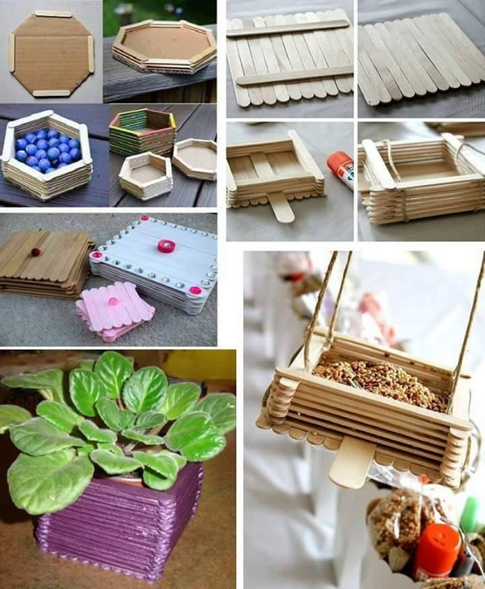 Popsicle Sticks Crafts Ideas