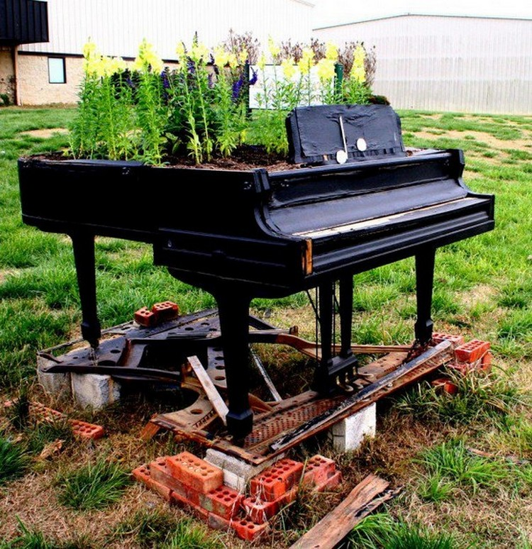 Recycled Old Piano