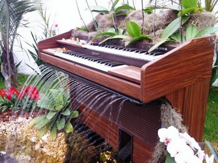 Recycled Piano Garden Ideas