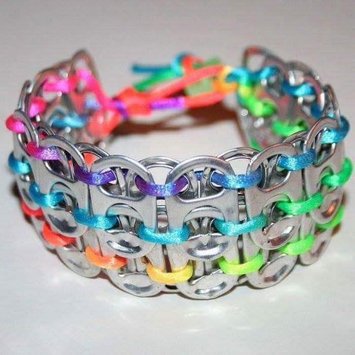 Recycled Soda Pop Tab Bracelet