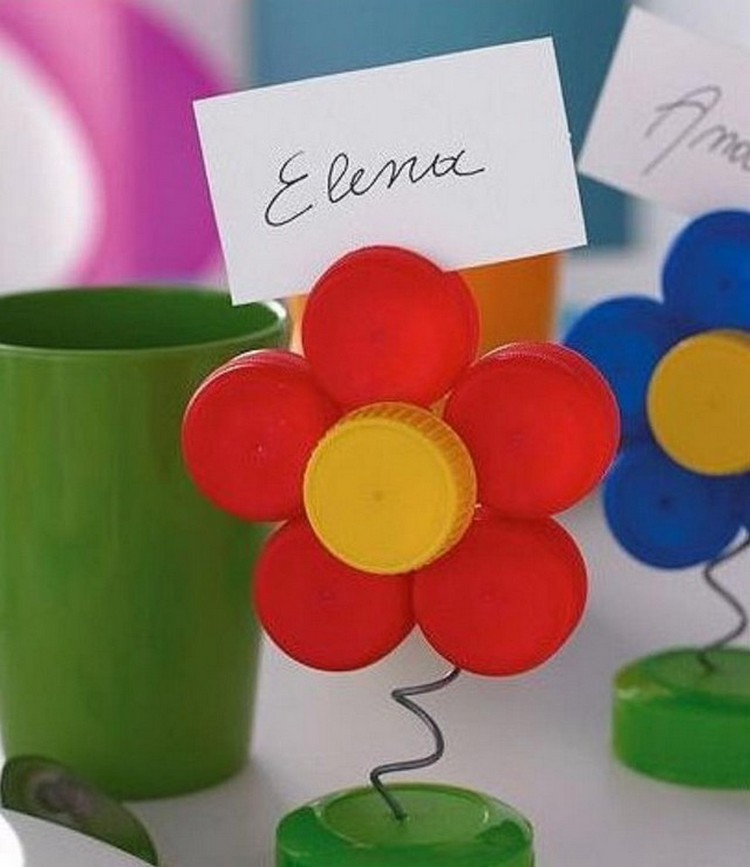 Reused bottle cap crafts recycled things for How to make bottle cap flowers