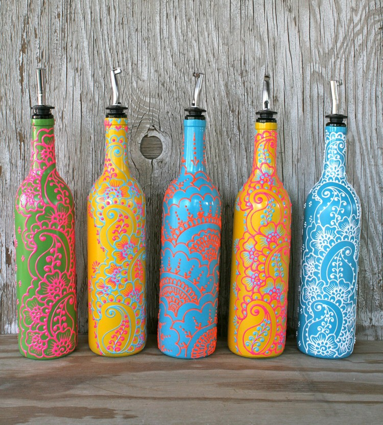 Turn old glass bottles into stunning home decor for Glass home decor