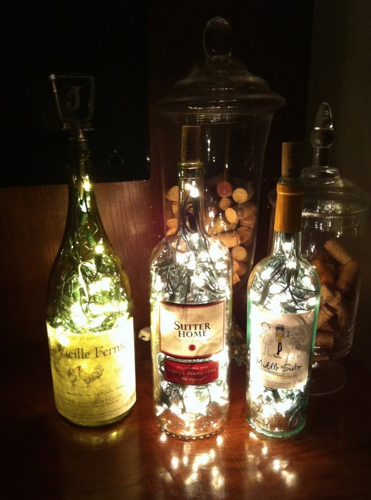 Glass Bottles Lamp for Home Decor